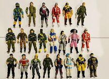 GI Joe Vintage Lot Of 22 (Poor Condition) Figures Tiger Force Duke Dusty Zap