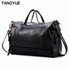Women's Shoulder Bag Ladies Black Faux Leather Tote Casual Handbag