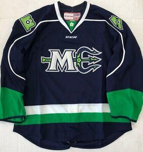 New Authentic Pro Stock CCM Maine Mariners ECHL Hockey Player Jersey sz 56 7287