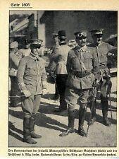 Kommandant Gurschner & Präsident Prinz Alex zu Solms-Braunfels Bilddokument 1909
