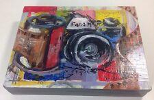 "Hand Painted Canon EOS Camera Photo Box 8"" x 6.5"" DSLR SLR Rebel Photography Art"