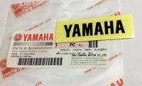 100% ORIGINALE YAMAHA 50mm x 12 mm PICCOLO NERO Adesivo decalcomania logo stemma