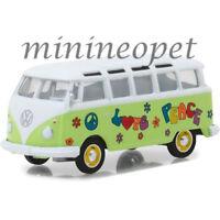 GREENLIGHT 29920 C 1964 VW VOLKSWAGEN SAMBA BUS HIPPIE PEACE & LOVE 1/64