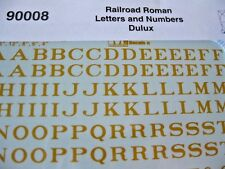 Microscale Decals Stock #90008 Railroad Roman Letters and Numbers Dulux