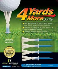 "4 Yards More Golf Tees 3 1/4"" Blue ""Driver Tee"" by Greenkeepers - Pack of 4"
