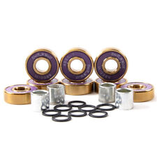 Dark Wolf Skateboard Bearings Titanium Abec-11 Purple Gold 8pcs with 4pcs Spacer