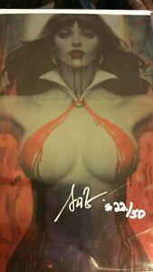 Vampirella 2 FOIL Virgin Variant  Artgerm signed #22 of 50 METAL coa NM
