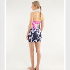 Lululemon Covers It All Dress Mini Mirage Deep Indigo Reversible Sz Small
