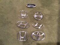 mix lot of car emblems