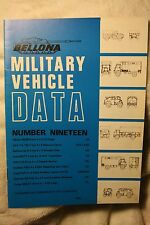 Military Vehicle Data Number 19 Bellona Publications VGC Conniford rare