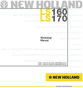 New Holland LS160 LS170 Skid Steer Printed Repair Service Workshop Manual