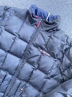 Vintage 90's Tommy Hilfiger Athletics Black Down Jacket Size XL *Flawed*