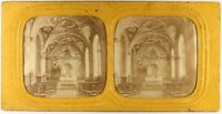 Palais Lussemburgo Parigi Francia Foto c1865 Diorama Stereo Vintage Albumina