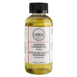 Gamblin Alkali Refined Linseed Oil 4 oz Bottle