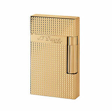 S.T. DUPONT ACCENDINO LIGHTER LINEA 2 YELLOW GOLD ORO 016284 made in france