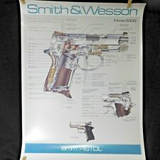 SMITH and WESSON 9mm Pistol Handgun Model 6906 Cutaway Diagram Poster