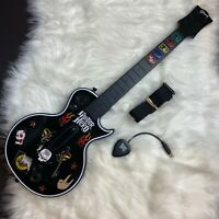 PlayStation 3 PS3 Guitar Hero Wireless Les Paul Gibson Black w/ Dongle [TESTED]*
