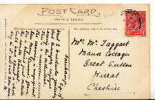 Genealogy Postcard - Taggart - Great Sutton - Wirral - Cheshire - Ref 3511A