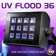 ADJ American DJ UV FLOOD 36 Proyectores de luz negra de LED DMX con 12 x