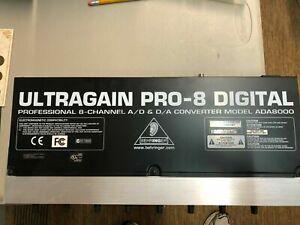 ADA8000 Behringer Ultragain Pro-8 Digital Mic Preamp A/D & D/A Converter-MINT