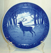 """Royal Copenhagen - 1960 """"The Stag"""" Christmas Plate"""