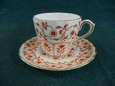 Royal Crown Derby Rougemont A1107 Swirl Shape Demitasse Cup and Saucer Set(s)