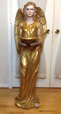 "52""H Gorgeous Huge Art Decor Indoor Outdoor Resin Angel Holder Bowl Statue Heavy"