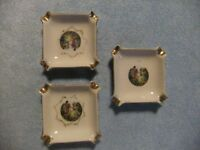Arnart Creations Royal Romance Ashtray Trio - Japan