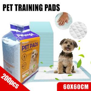 200x Puppy Pet Dog Cat Training Pads Absorbent Indoor Toilet Australia Brand