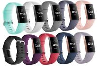 Watch Band For Fitbit Charge 3 Silicone Bracelet Wrist Strap Replacement 10 PCS