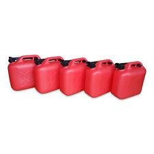 5 Stück 10 L Kraftstoffkanister Benzin Reserve Kanister Tank UN-Zulassung rot