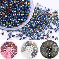 New Chameleon Irregular Beads 3D Nail Art Rhinestones Decoration Wheel Manicure