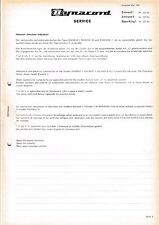 Service Manual Manual for DYNACORD Eminent I,Eminent II,bass-king I