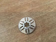 Round Flower Pineapple Beautiful Vintage Sterling Silver Pin Brooch