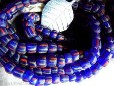 Strang 60 cm böhmische Glasperlen lapis blau crow beads glänzend 7-8 mm