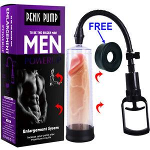 """8"""" Penis Pump Enlarger Vacuum Erection Enhancer Power Up Cock Extender Stretcher"""