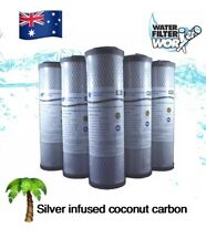 "SILVER 5 PACK | SILVER Carbon Block Water Filter 0.5 Micron 10"" x 2.5"" 