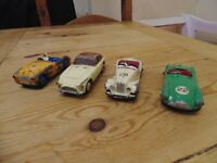 Dinky Austin Healey MG Migdet Aston Martin AC Aceca Loose Diecast Sports Cars