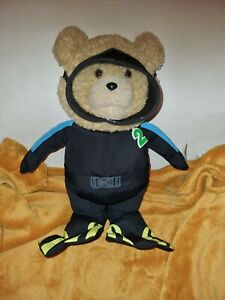 "Ted 2 Talking Teddy Bear 16 Inch Plush ""Scuba Diver"" ~ Explicit Phrases ~ VGC"