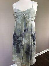 Fei - Anthropology Women's Silk Watercolor Print Spaghetti Strap Dress Sz 6 EUC