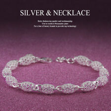 Special Openwork Design Solid Silver Lady Charming Bracelet 8 Inch