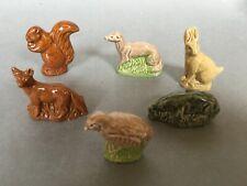 Six Wade Whimsies from British Wildlife Set 1980-81