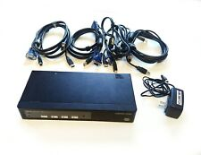 ConnectPRO UR-14 4 Port USB VGA KVM Switch with Cables and PSU