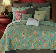 Twin Quilt Jacobean Floral French Country Cotton