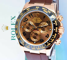 ** Rolex Daytona Chronograph 18k Rose Gold Watch Ceramic Box/Papers 116515LN **