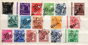 SBZ Bezirkshandstempelmarken Nr.166-181 postfrisch