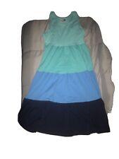 HANNA ANDERSSON GIRLS BLUE RACERBACK DRESS SIZE 140 / 10