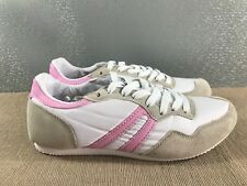 BNWT Ladies Older Girls Sz 9 Rivers White Grey Pink Casual Jogger Shoes