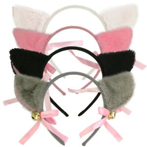 Fox Girl Cat New Ears Gift Fur Cosplay Bell Cute Costume Party Anime Hair Clip