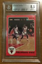 1986 Star #2 MICHAEL JORDAN Collegiate Stats Rookie Card BGS 8.5